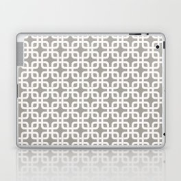 Mid-Century Modern Geometric Pattern, rounded corner squares interlocking Laptop & iPad Skin