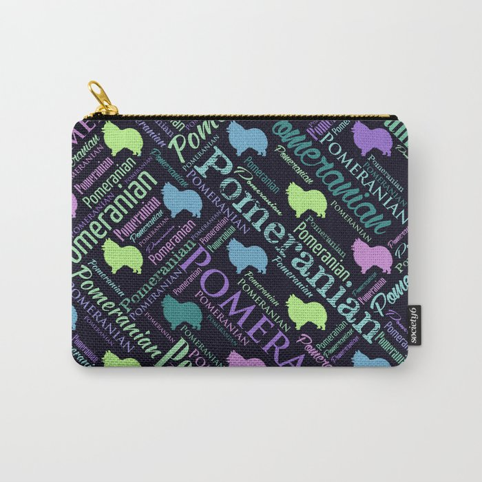 Pomeranian Word Art Carry-All Pouch