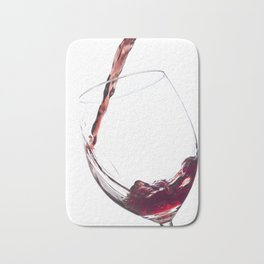 Elegant Red Wine Photo Bath Mat
