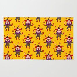 Clown Dog Frenchie entertains you with love and cuteness Rug
