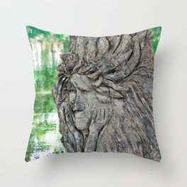 Thinking at the creek Throw Pillow