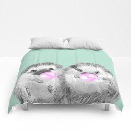 Playful Twins Hedgehog Comforters