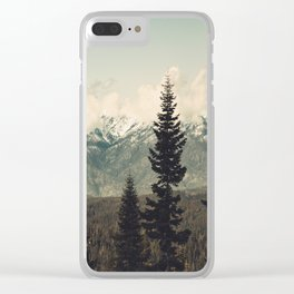 Snow capped Sierras Clear iPhone Case
