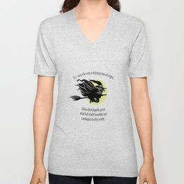 Tis Now The Witching Time Of Night Unisex V-Neck