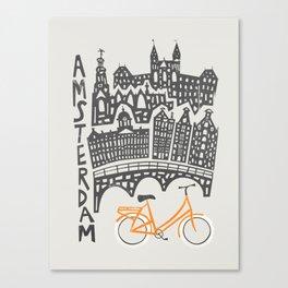Amsterdam Cityscape Canvas Print