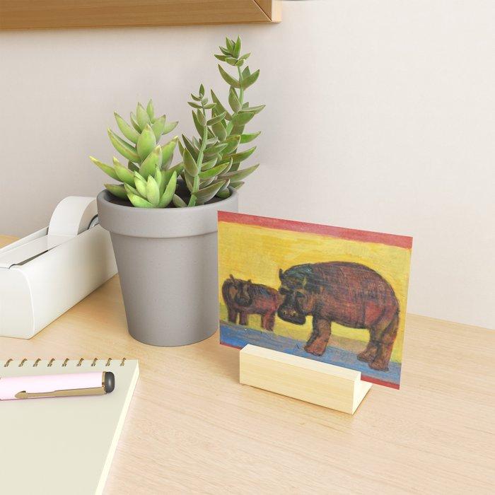Hippopotamuses Mini Art Print