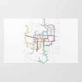 Minneapolis Skyway Map Rug