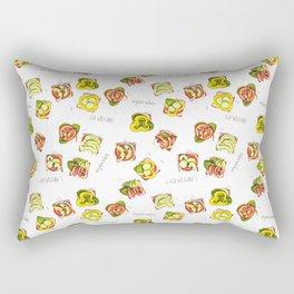 go vegan! Rectangular Pillow