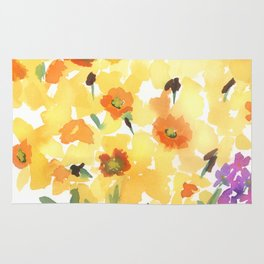 Spring Daffodil Patch Rug