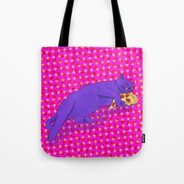 Paws off my pizza! Tote Bag
