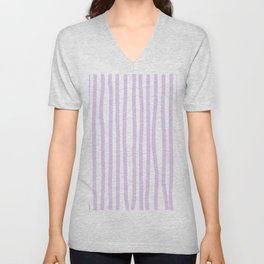 Lavender Stripes Unisex V-Neck