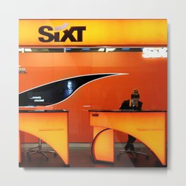 Sixt in Airport Metal Print