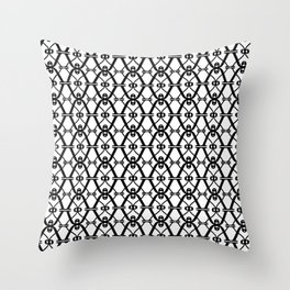 X black and white pattern Throw Pillow