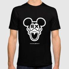 Mickey Duck Black Mens Fitted Tee MEDIUM