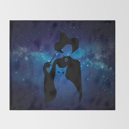 Minerva and Cat Throw Blanket