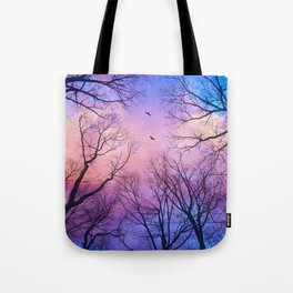 A New Day Will Dawn  (Day Tree Silhouettes) Tote Bag