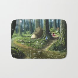 Totoro and Mei Bath Mat