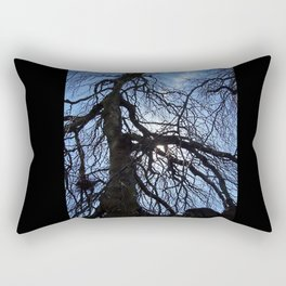 Nearly Abstract Tree on clear blue sky Rectangular Pillow