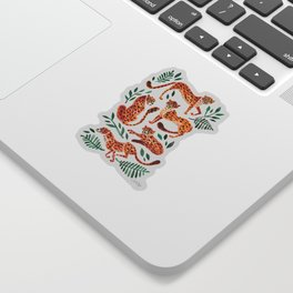 Cheetah Collection – Orange & Green Palette Sticker