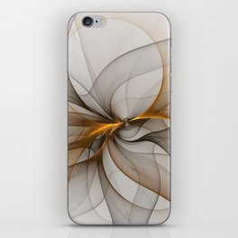 Elegant Chaos, Abstract Fractal Art iPhone Skin