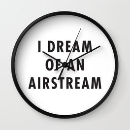 I Dream of an Airstream Wall Clock
