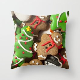 Delicious Christmas Cookies Throw Pillow