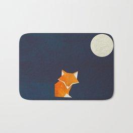 Origami Fox and Moon Bath Mat