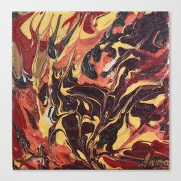 Between an orange sand Canvas Print