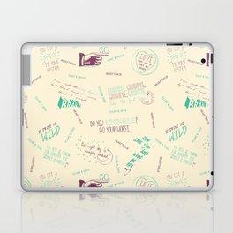 Doodlethrob (Tegan and Sara) creme Laptop & iPad Skin