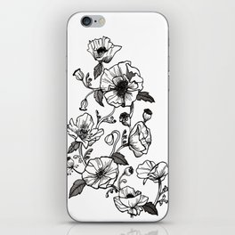 White poppies iPhone Skin
