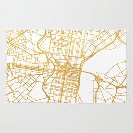 PHILADELPHIA PENNSYLVANIA CITY STREET MAP ART Rug