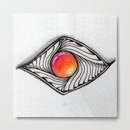 Doodled Gem Sparkle Eye Metal Print