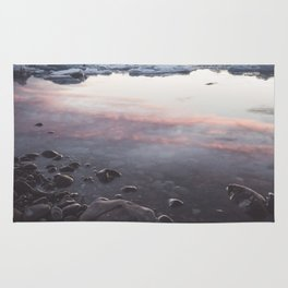 Jokulsarlon Lagoon - Sunset - Landscape and Nature Photography Rug