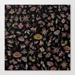 Botanical Study- Dark Colorway Canvas Print