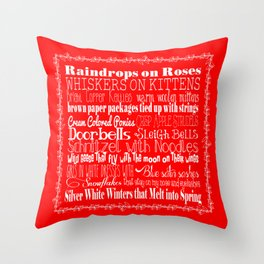 My Favorite Things - Red Throw Pillow