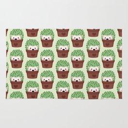 Hedgehogs disguised as cactuses Rug
