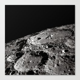 Terraced Wall Crater on the Lunar Limb Canvas Print