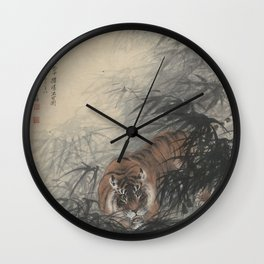 Zhang Shanma 'Tiger' - 张善孖 虎威 Wall Clock