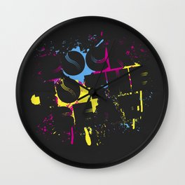 Rock To The Beat Wall Clock
