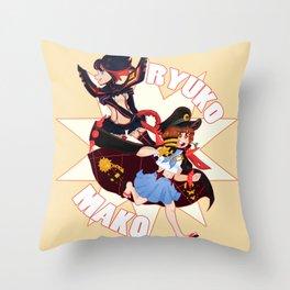 Ryuko and Mako Throw Pillow