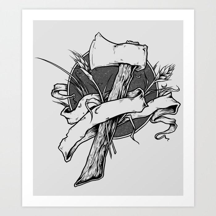 Hatchet  Art Print