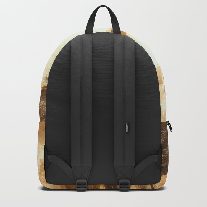Golden Morn, Watercolor Beach Art Backpack