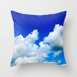 Clouds in a Clear Blue Sky Throw Pillow