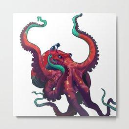 Sweet shades, mister octopus. Metal Print