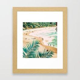 Beach Weekend #digitalart #nature Framed Art Print