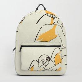 The Ballerinas-Minimal Line Drawing Backpack