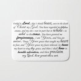 Prayer of Hymns Bath Mat