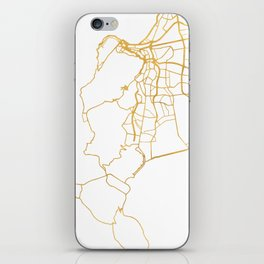 CAPE TOWN SOUTH AFRICA CITY STREET MAP ART iPhone Skin