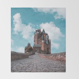 Burg Eltz Castle Germany Up in the Clouds Throw Blanket
