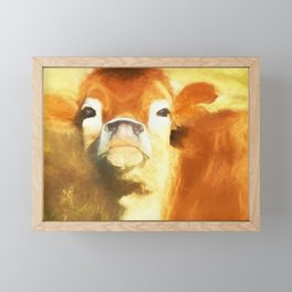 A Moo Attitude Framed Mini Art Print